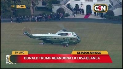 EEUU: Donald Trump abandona la Casa Blanca
