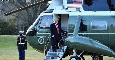 La Nación / Trump abandona Washington con un desaire a Biden y la promesa de volver