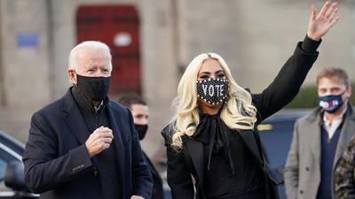 Lady Gaga y otras grandes figuras en la toma de posesión de Joe Biden