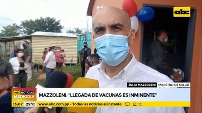 Llegada de vacunas es inminente, según Mazzoleni