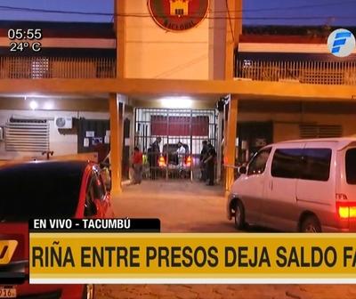 Riña entre presos con saldo fatal en Tacumbú