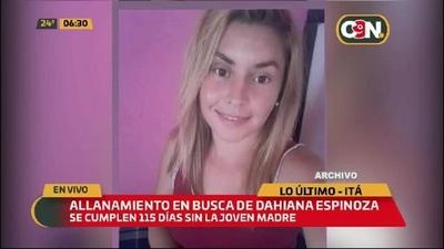 Allanamiento en busca de Dahiana Espinoza