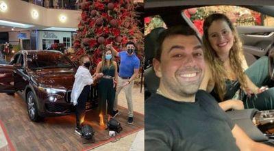 Sorteo denunciado: shopping retira camioneta que ganó esposa de Marco Trovato