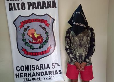 Aprehenden a un joven por sospecha de participar de robo agravado en Hernandarias – Diario TNPRESS
