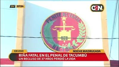 Riña falta en la Penitenciaria de Tacumbú