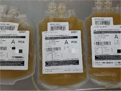 Baja número de donantes de plasma para tratamiento contra el Covid