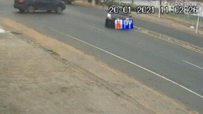 Captan dos accidentes en el mismo lugar y en menos de 30 minutos
