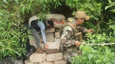 En Reserva Maracana eliminan más de 5 toneladas de marihuana a estructura narco
