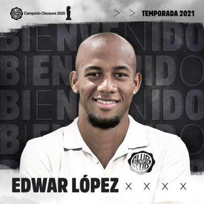 Olimpia da la bienvenida a Edwar López