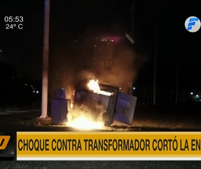 Choque deja sin energía eléctrica a Costanera de Asunción
