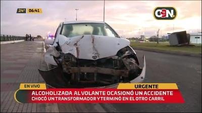 Noche y madrugada: Accidente en la Costanera de Asunción