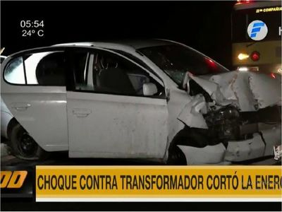 Choque contra transformador en Costanera provoca corte de energía