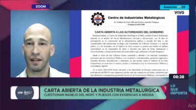 Duras críticas del Centro de Metalúrgicos al manejo de licitaciones del MOPC y Petropar