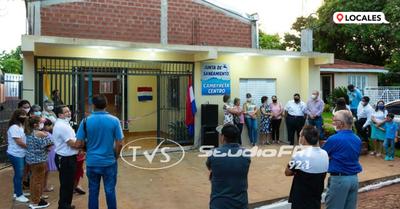 Inauguran importantes obras en la Junta de Saneamiento de Cambyretá