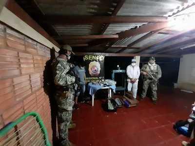 Agentes de la SENAD capturan a brasileños que procesaban cocaína en PJC