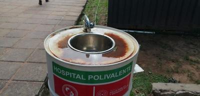 Pésimo estado de lavamanos en el Hospital de Coronel Oviedo – Prensa 5