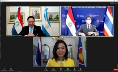 Diplomáticos del Reino de Tailandia y de la República de Eslovaquia presentan cartas credenciales a Cancillería