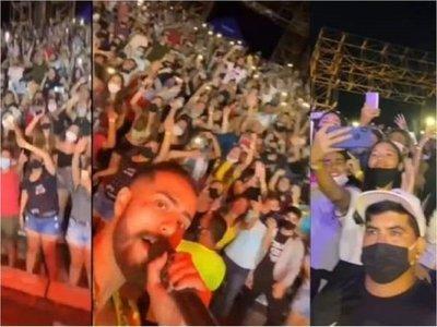 Organización alega que se cumplió protocolo en concierto, pese a aglomeración