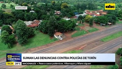 Suman las denuncias contra policías de Torín