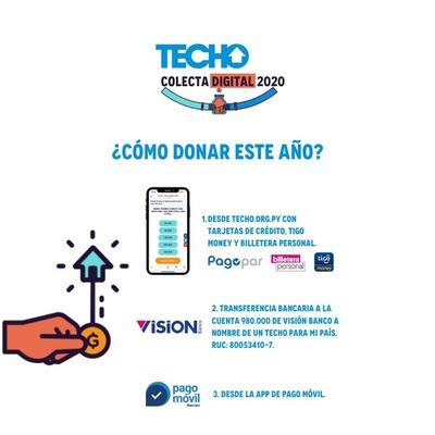 TECHO REALIZA SU PRIMERA COLECTA DIGITAL EN PARAGUAY