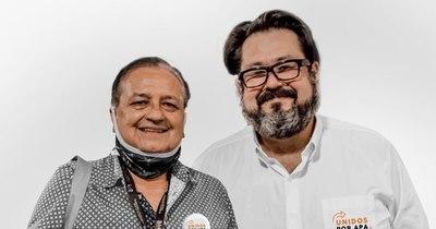 """La Nación / Gustavo Luque y """"Papi"""" Basaldúa se presentan como candidatos a las próximas elecciones de APA"""