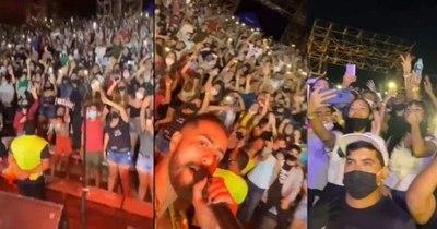 La Nación / San Ber: organizadores alegan que público se aglomeró solo al final del concierto