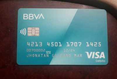 Encontró tarjeta de débito y busca al propietario
