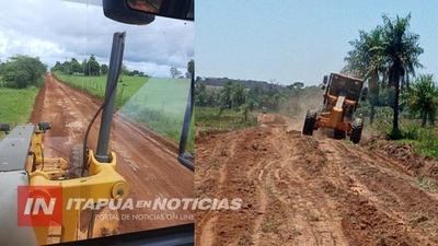 MAQUINARIAS DE LA GOBERNACIÓN DESPLEGADAS EN DISTINTAS ZONAS