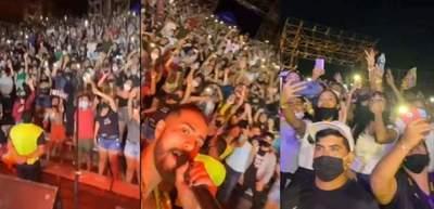 Concierto en San Ber: Aseguran que el propio artista fue quien instó al público a aglomerarse