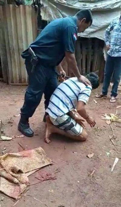 Brutal agresión en procedimiento policial, tras denuncia contra joven en Yhu