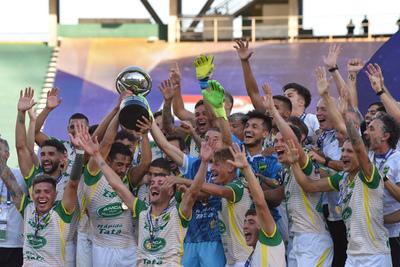 Ahí está el flamante campeón de la Copa Sudamericana