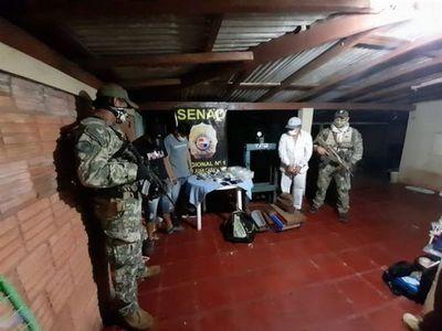 Senad detuvo a 3 Brasileños durante un allanamiento realizado en Barrio Mcal. Estigarribia