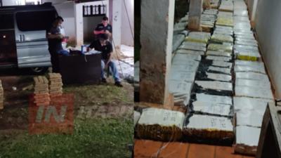 DROGA INCAUTADA EN GRAL. DELGADO TOTALIZÓ 2.480 KG