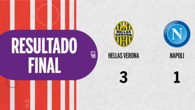 Hellas Verona goleó a Napoli por 3 a 1