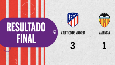 Atlético de Madrid goleó a Valencia por 3 a 1