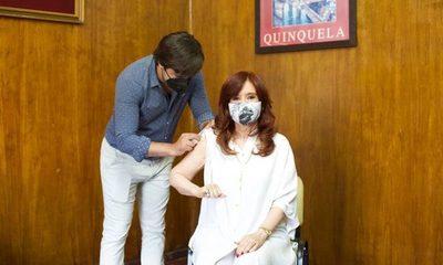 Cristina Fernández se aplicó la vacuna rusa Sputnik V