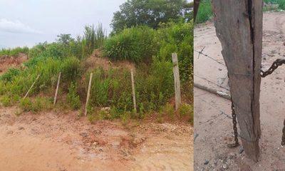 Arenero cierra acceso al Monday y no permite que vecinos accedan al río