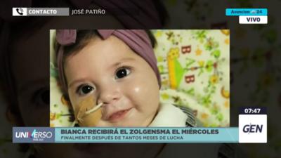 """HOY / José Patiño, padre de la pequeña Bianca: """"El miércoles estaría iniciando el tratamiento con el zolgensma"""