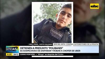"""Detienen a presunto """"polibandi"""" por disparar y robar a chofer de Uber"""