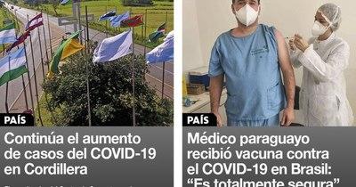 La Nación / Destacados de la mañana del 25 de enero