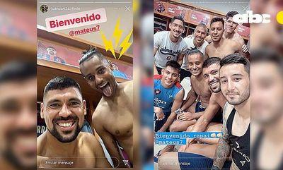 La bienvenida de Patiño y Villasanti a Mateus Gonçalves
