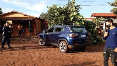 Vehículo que conducía policía asesinado en Pedro Juan Caballero era robado en Brasil
