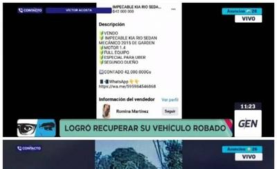 HOY / Recuperan vehículo robado a conductor de Uber y detienen a los presuntos autores