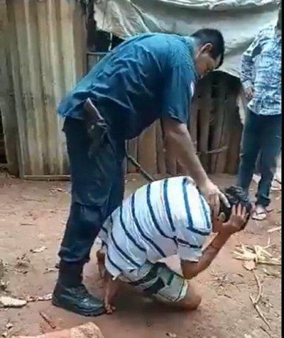 Apartan del cargo a Policía que agredió brutalmente a un hombre en Yhu