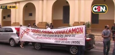 Microcentro de Asunción: Conductores se manifiestan por mayor seguridad