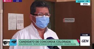 """La Nación / """"No van a ser defraudados"""", promete a encarnacenos el candidato de Concordia, César Rojas"""