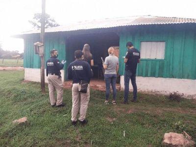 Fiscalía allana viviendas en caso de abuso y crimen de joven en Coronel Oviedo