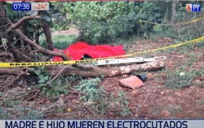 Madre e hijo fallecen electrocutados en Obligado