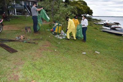 Realizan minga ambiental en Ayolas