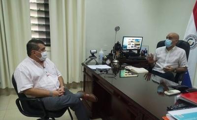 HOY / Intendente de Encarnación visitó la capital para reunirse con autoridades del gobierno